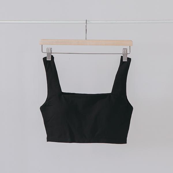 舒適簡約寬肩帶BRA TOP|黑色