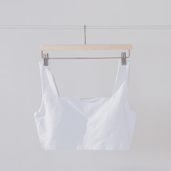 舒適簡約寬肩帶BRA TOP|白色