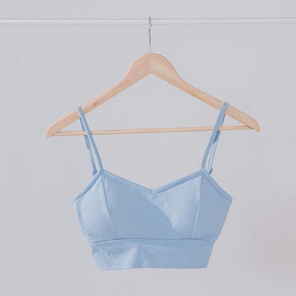 法式性感美背BRA TOP|淺藍